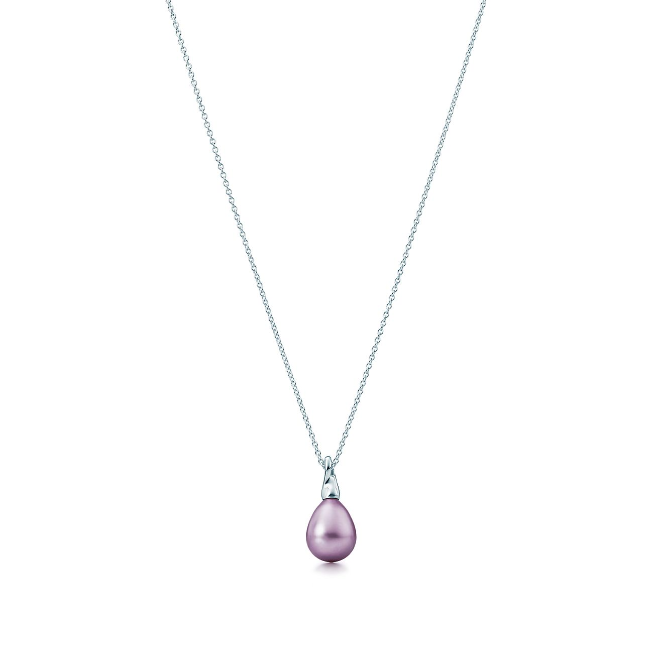 Elsa Peretti Cat Island pendant in silver with a freshwater cultured pearl Tiffany & Co. Liq2Fi