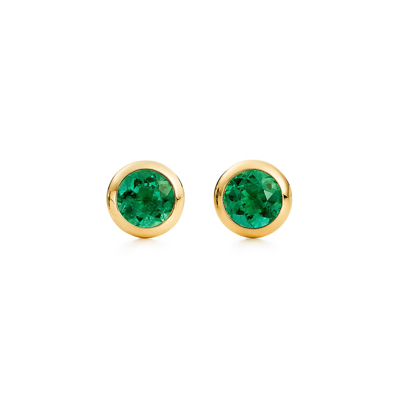 Elsa Peretti Color By The Yard Earrings In 18k Gold With Emeralds Tiffany Co