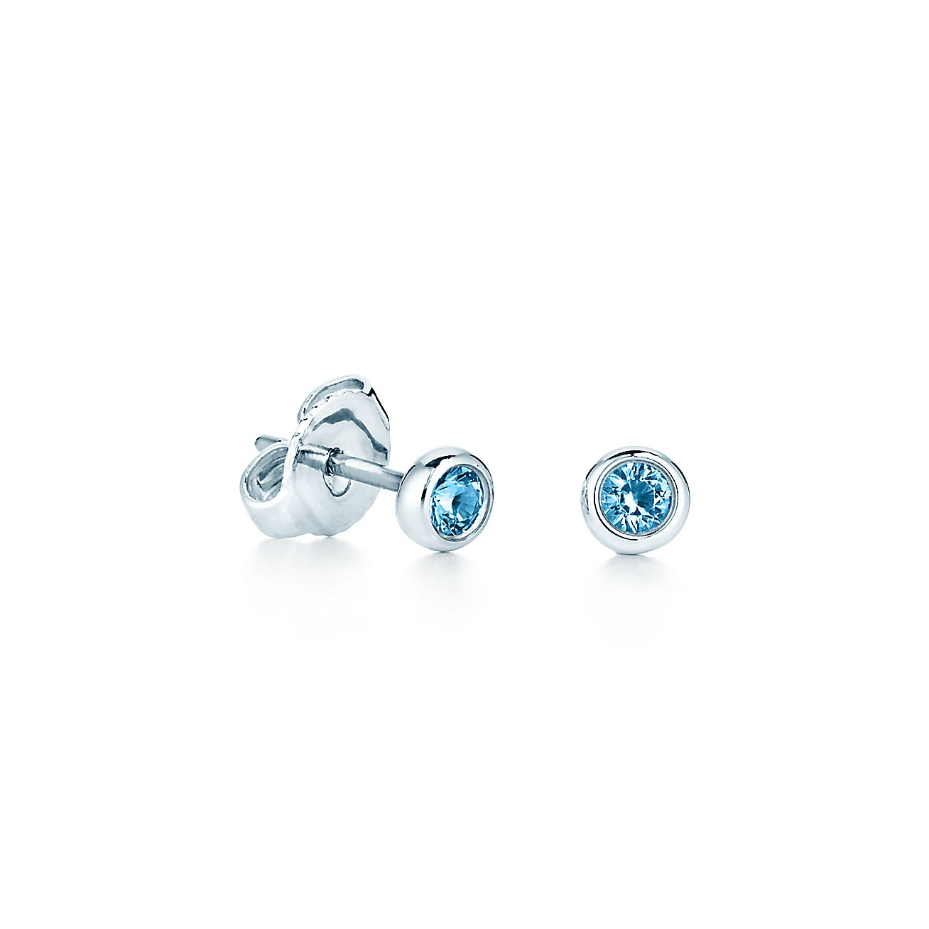 earrings ideas gift aquamarine genuine white pin gold