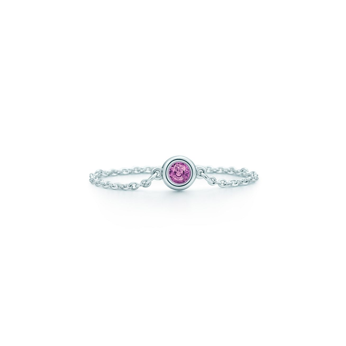 Elsa Peretti Color by the Yard ring in sterling silver with a pink sapphire - Size 5 Tiffany & Co. NUtlx41