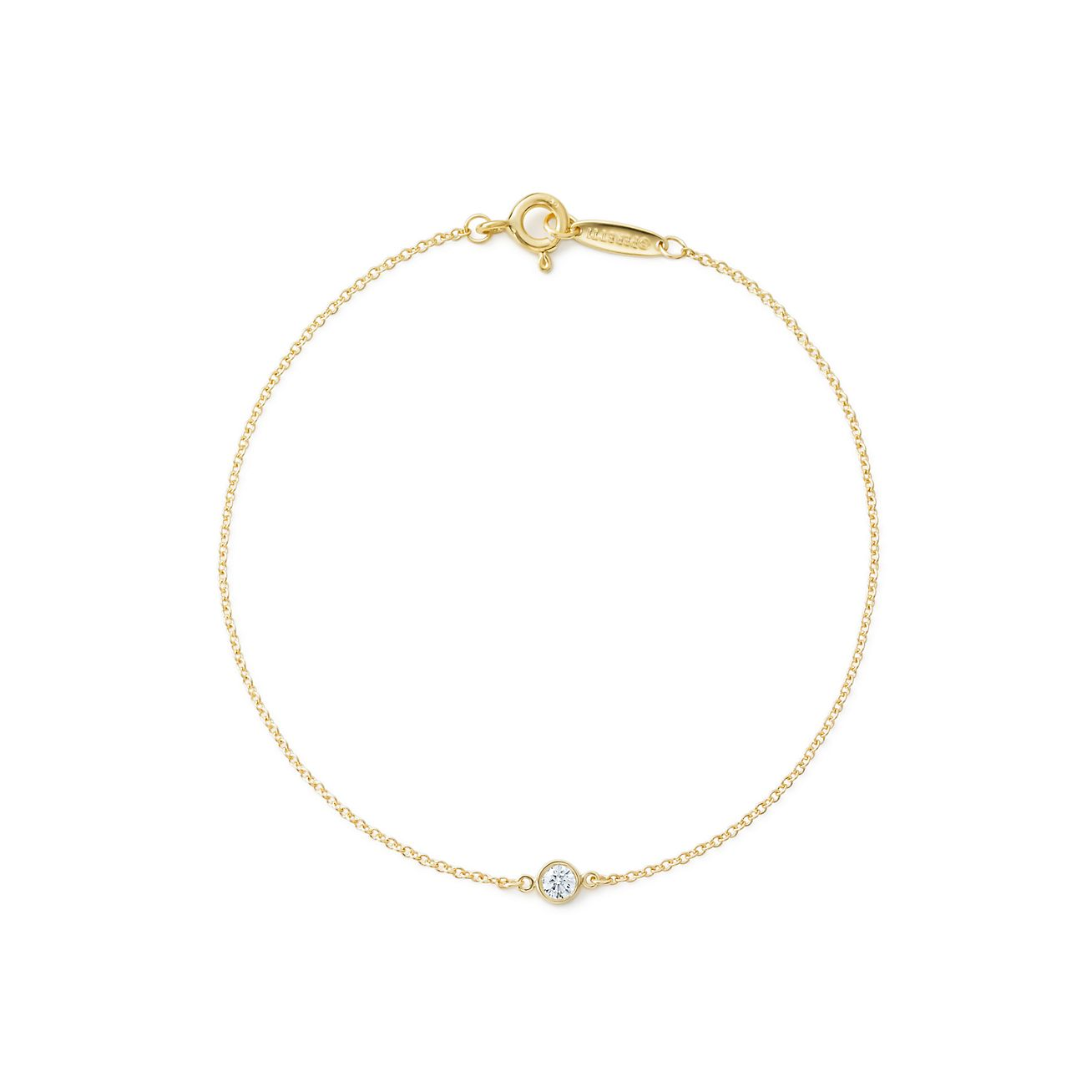 Elsa Peretti Diamonds by the Yard bracelet in 18k gold with a diamond - Size.03 Tiffany & Co. zS6bpiT