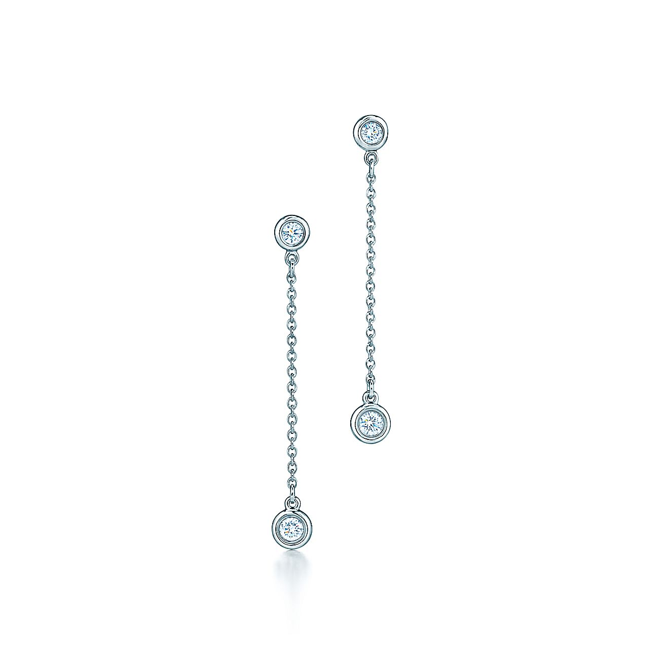 Elsa Peretti Diamonds By The Yard Drop Earrings In Sterling Silver Tiffany Co
