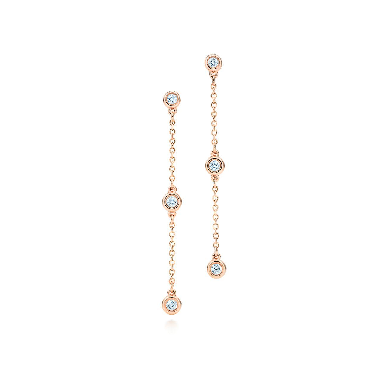 Elsa Peretti Pearls by the Yard chain earrings in 18k rose gold Tiffany & Co. VwAHf