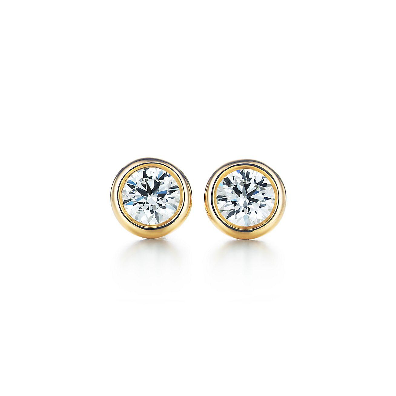 Elsa Peretti Diamonds By The Yard Earrings In Yellow Gold Tiffany Co
