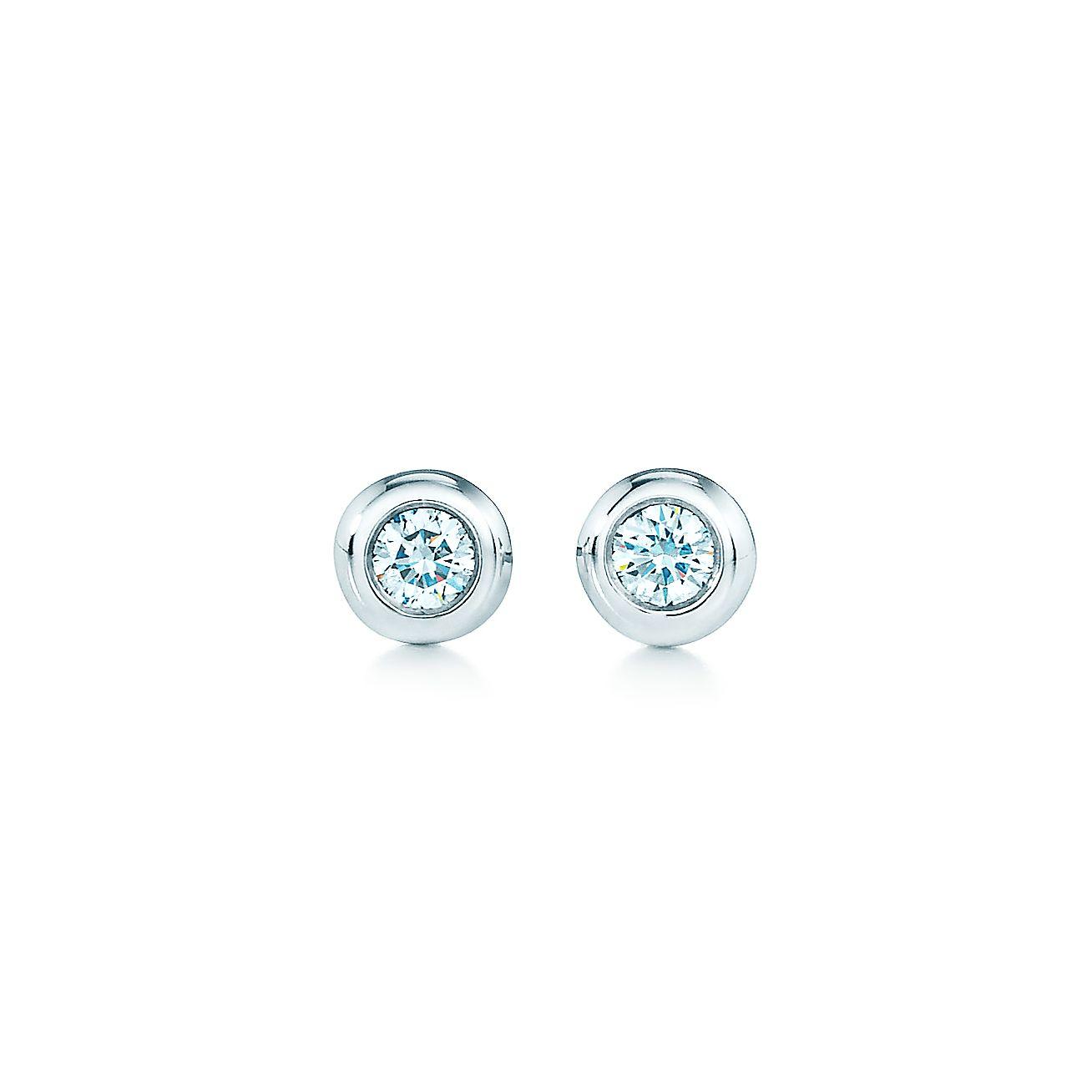 Elsa Peretti Diamonds By The Yard Earrings In Sterling Silver Tiffany Co