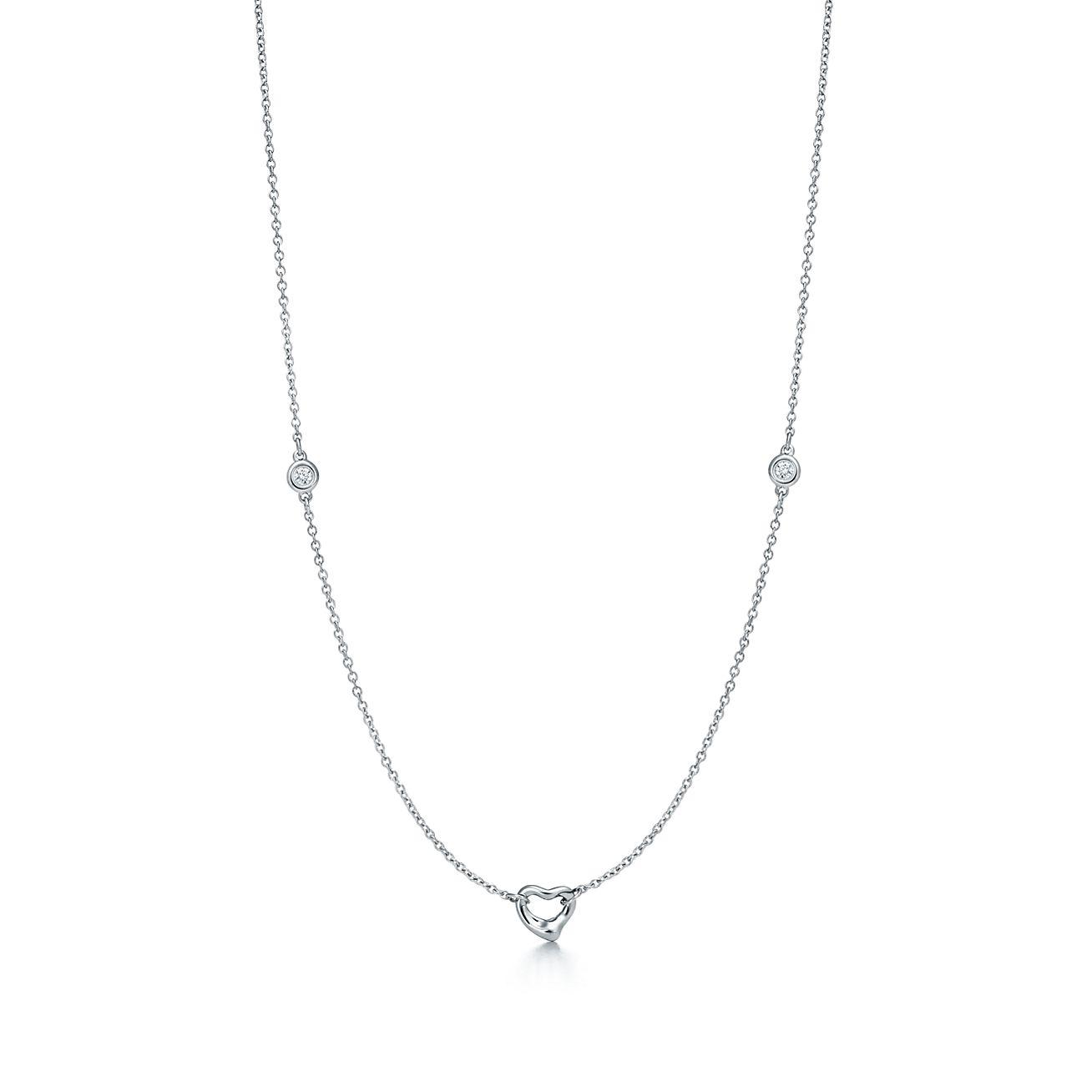 Elsa Peretti Diamonds by the Yard Open Heart pendant in sterling silver Tiffany & Co. at6QjFGO