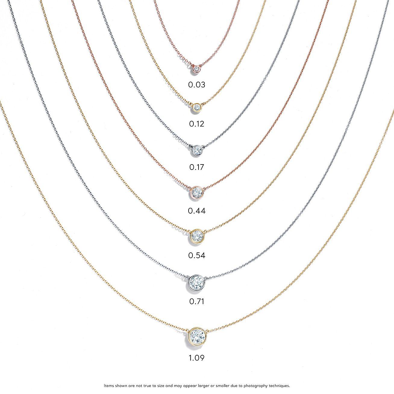 Elsa Peretti Diamonds By The Yard Pendant In Platinum 16 Long Tiffany Co