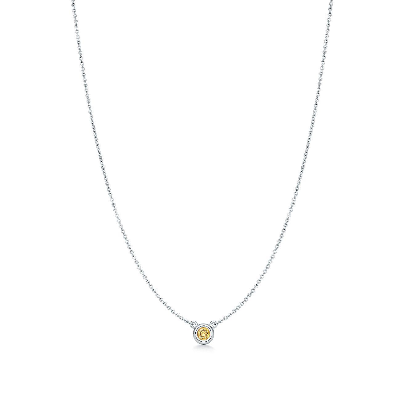 Elsa Diamants Par Le Pendentif Peretti Cour En Platine Tiffany & Co. ILrZ6zv