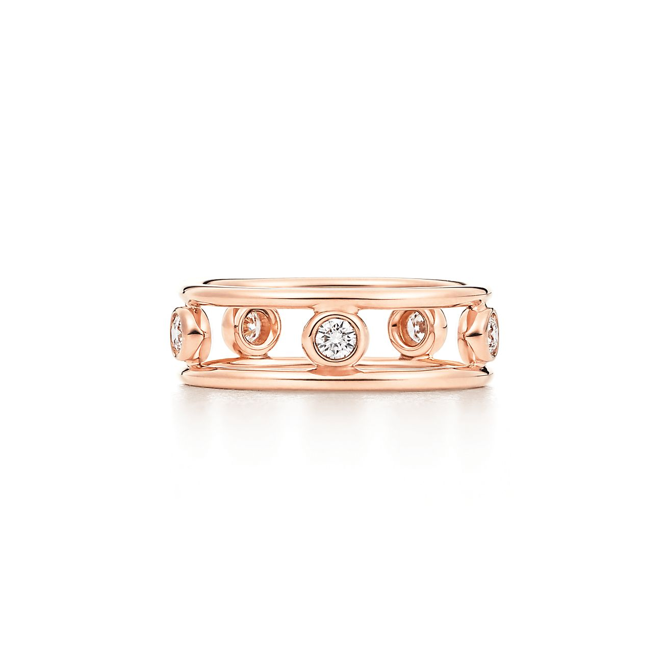 Elsa Peretti Diamonds by the Yard ring in 18k rose gold - Size 4 Tiffany & Co. LNG8ljRtec