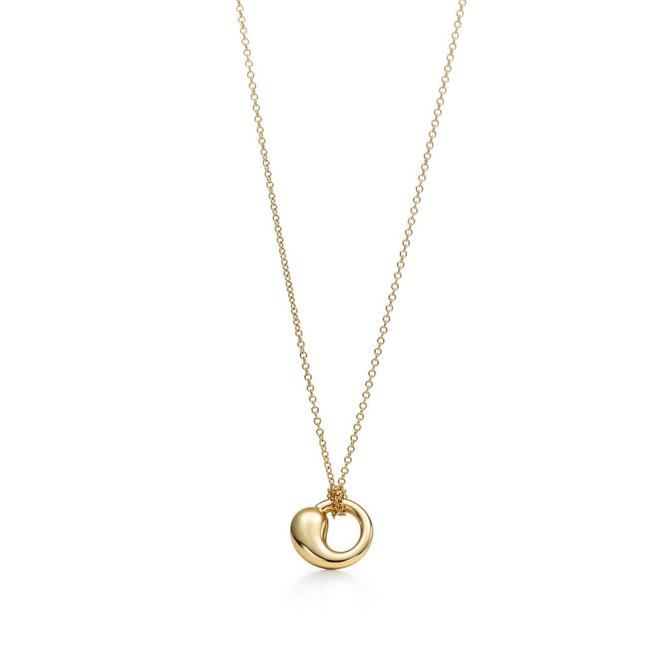 Elsa peretti eternal circle pendant in 18k gold small tiffany co elsa perettieternal circle pendant aloadofball Images