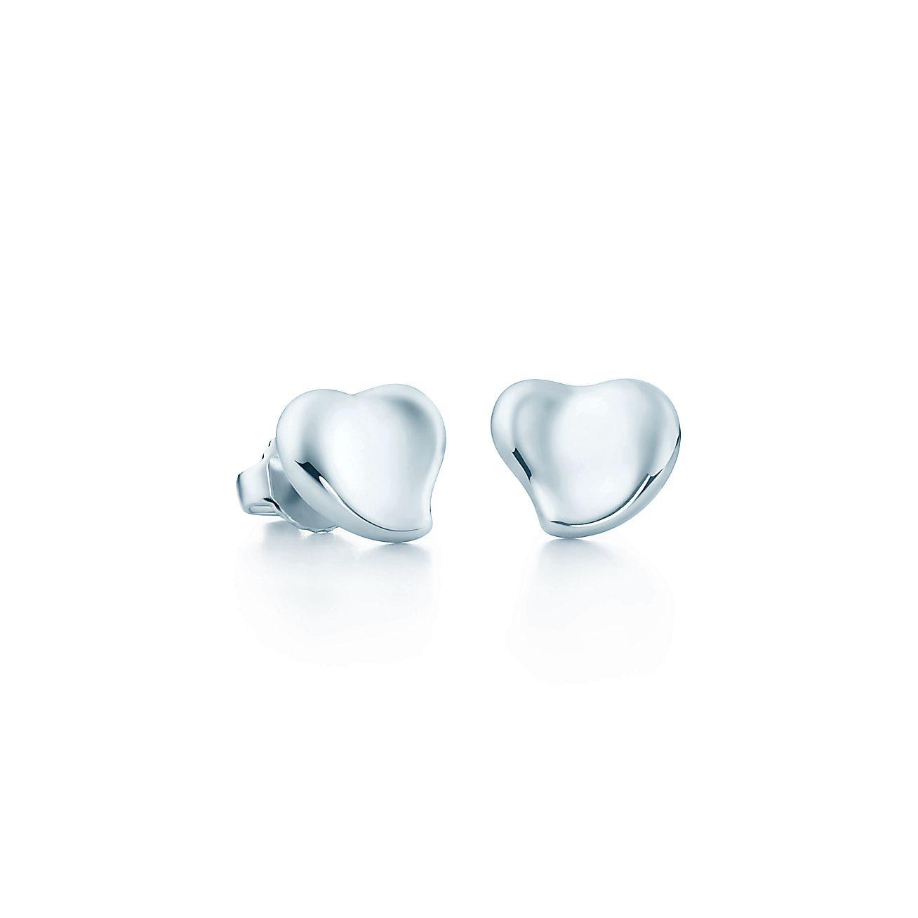 Elsa Peretti Full Heart Earrings In Sterling Silver Mini Tiffany Co