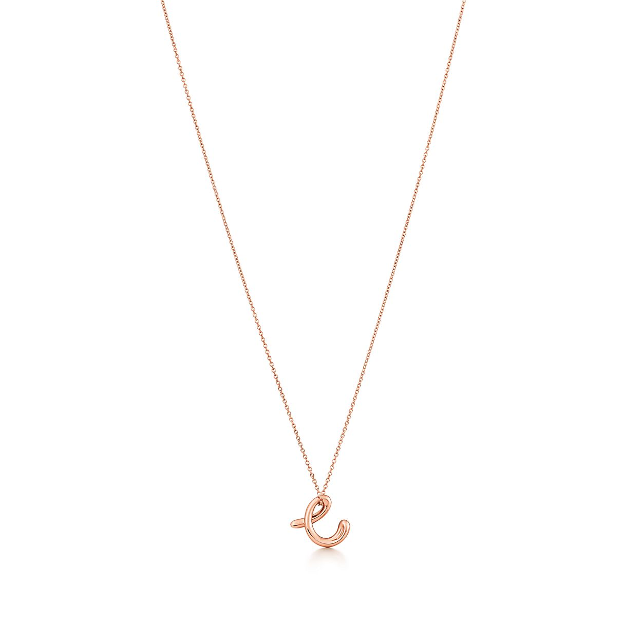 Elsa Peretti Alphabet Pendant In 18k Rose Gold Letters A Z Available Tiffany Co
