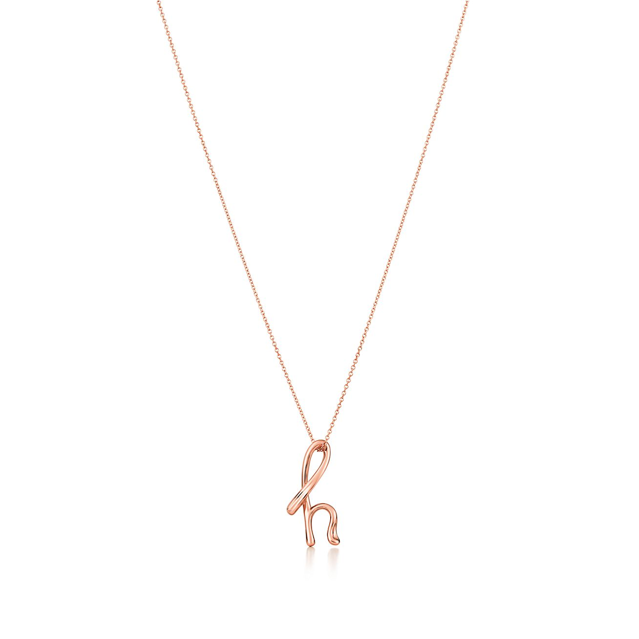Elsa Peretti Alphabet pendant in 18k rose gold Letters A-Z available - Size B Tiffany & Co. ieip86JBf