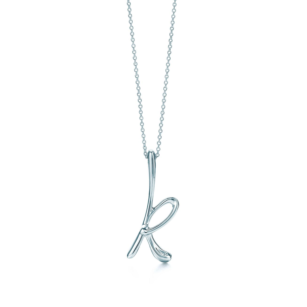 Elsa Peretti letter Y pendant in sterling silver, small - Size Y Tiffany & Co.