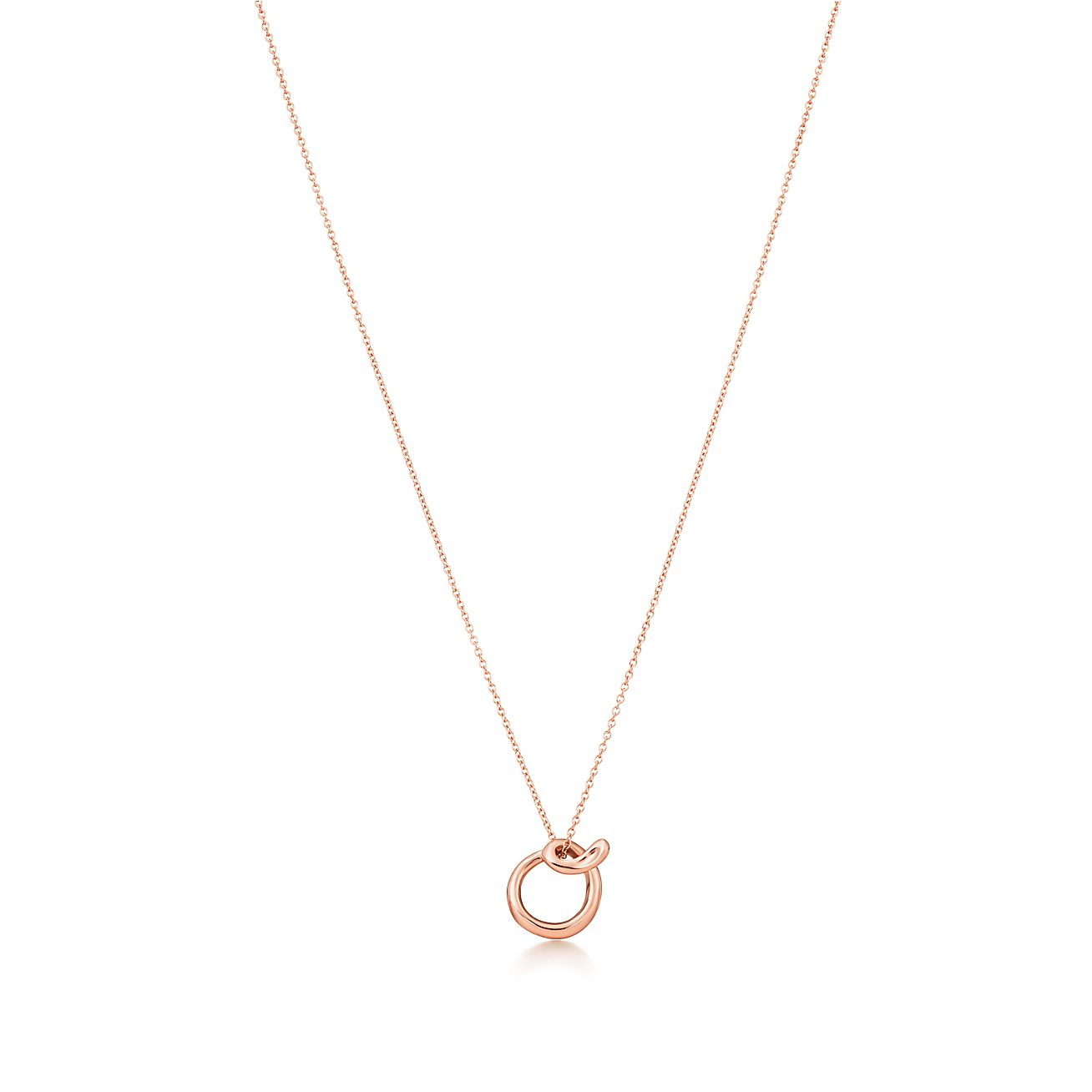 Elsa Peretti Alphabet pendant in 18k rose gold Letters A-Z available - Size P Tiffany & Co. 63VnWQwOR
