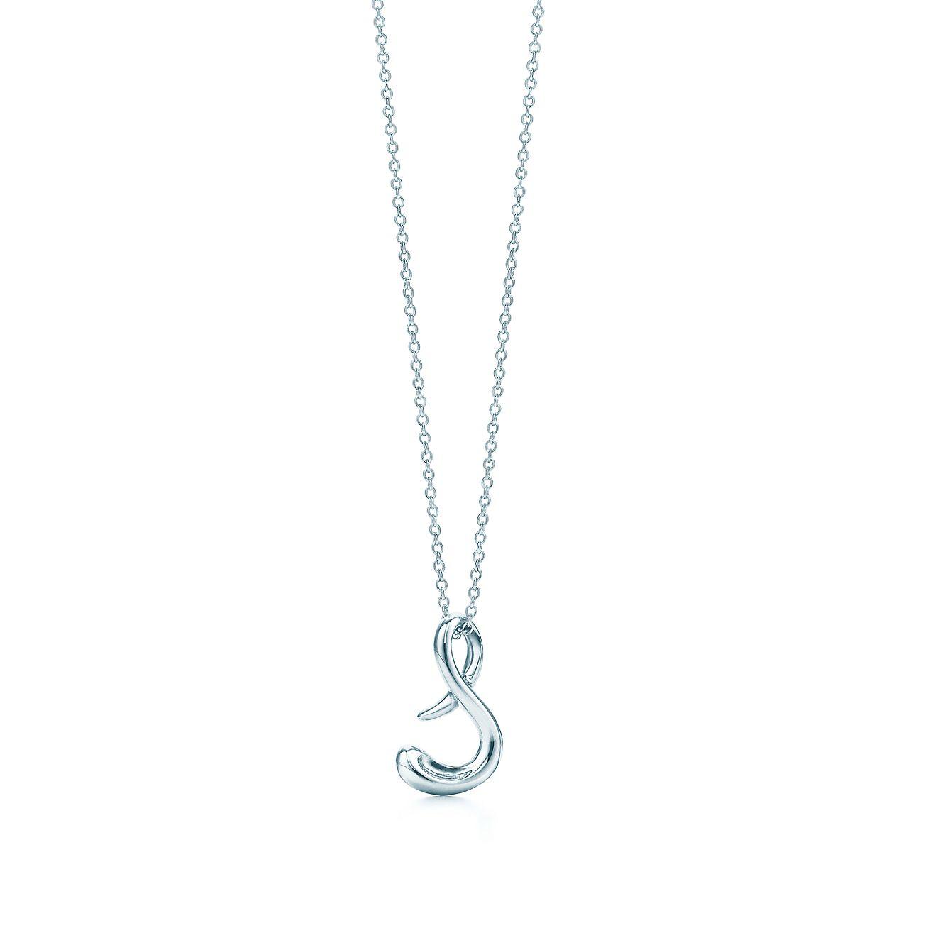 Elsa Peretti letter X pendant in sterling silver, small - Size X Tiffany & Co.