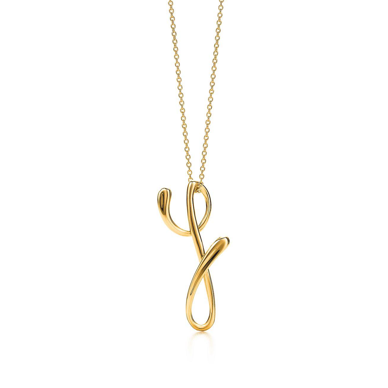 Elsa peretti alphabet pendant in 18k gold letters a z available elsa perettiletter y pendant aloadofball Gallery