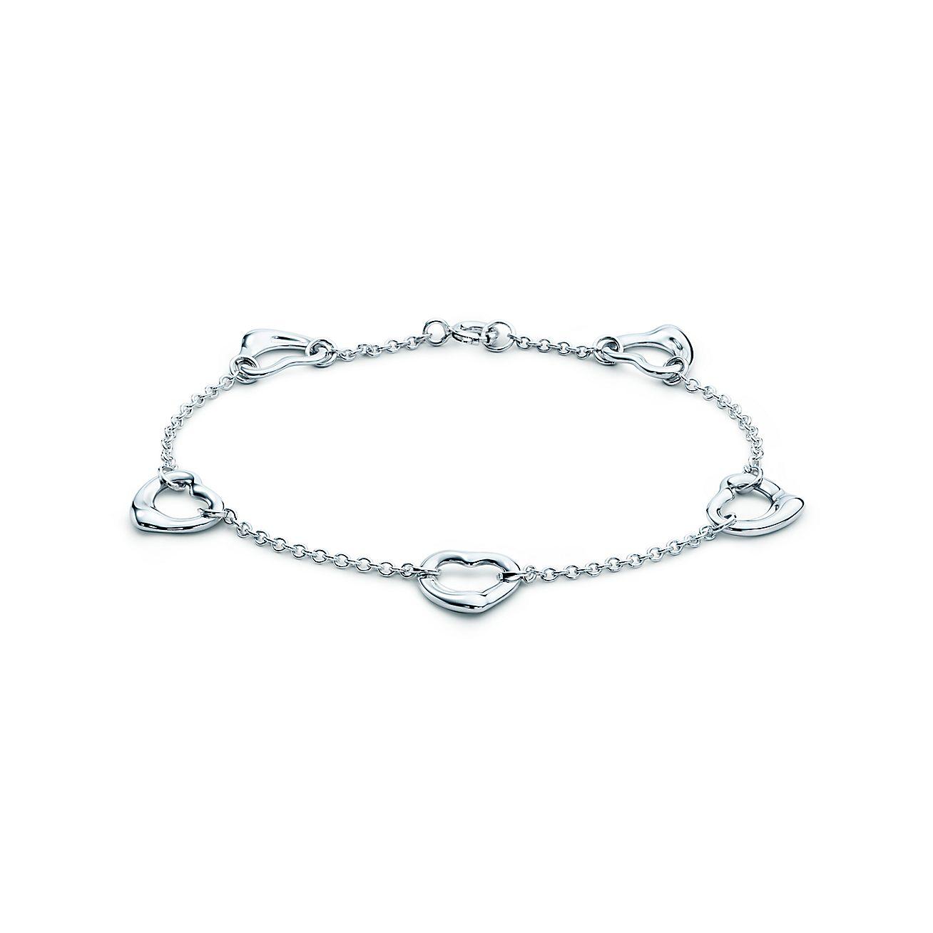 Elsa Peretti Open Heart Bracelet In Sterling Silver Medium Tiffany Co