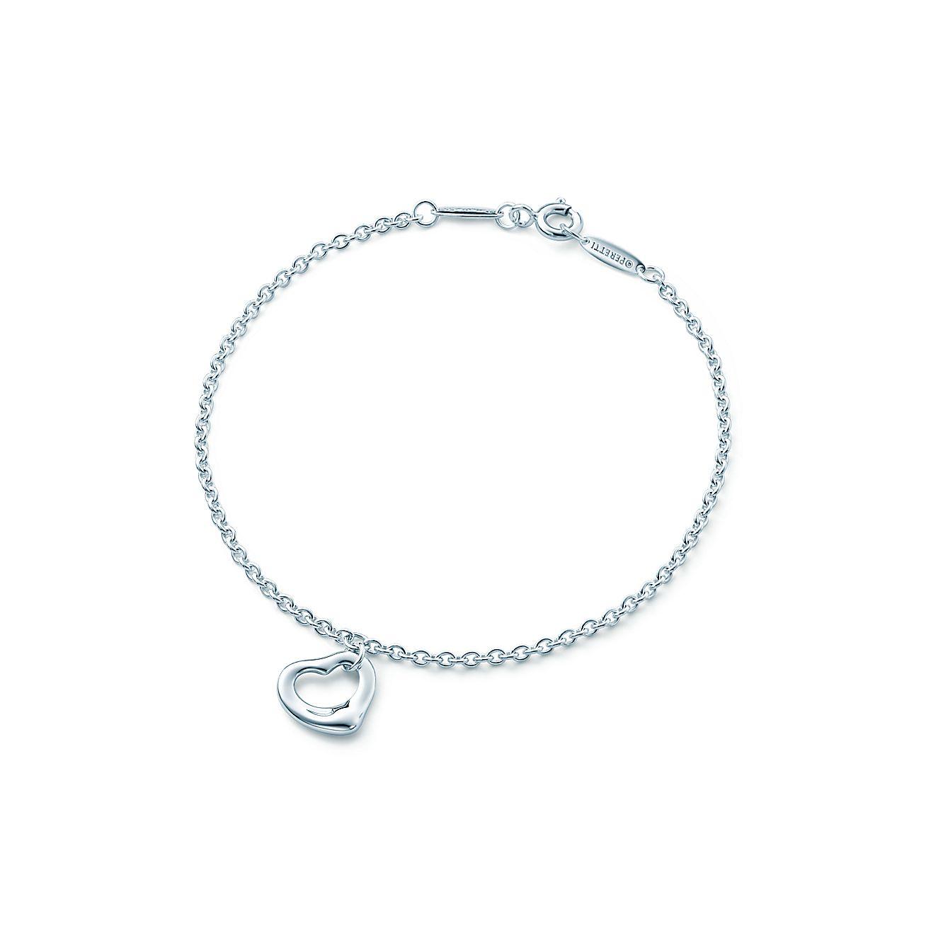 Tiffany Heart Bracelet >> Elsa Peretti Sterling Silver Open Heart Bracelet Tiffany Co