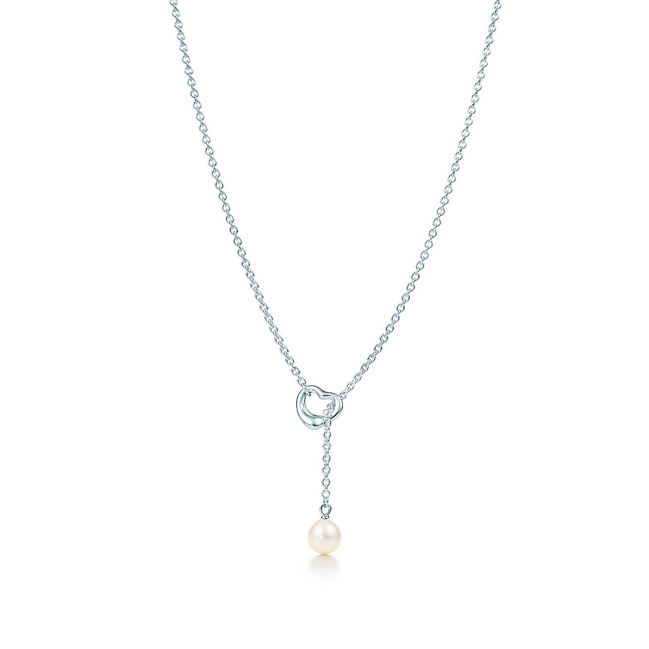 Elsa peretti open heart lariat in sterling silver with a freshwater elsa peretti open heart lariat in sterling silver with a freshwater pearl tiffany co aloadofball Gallery