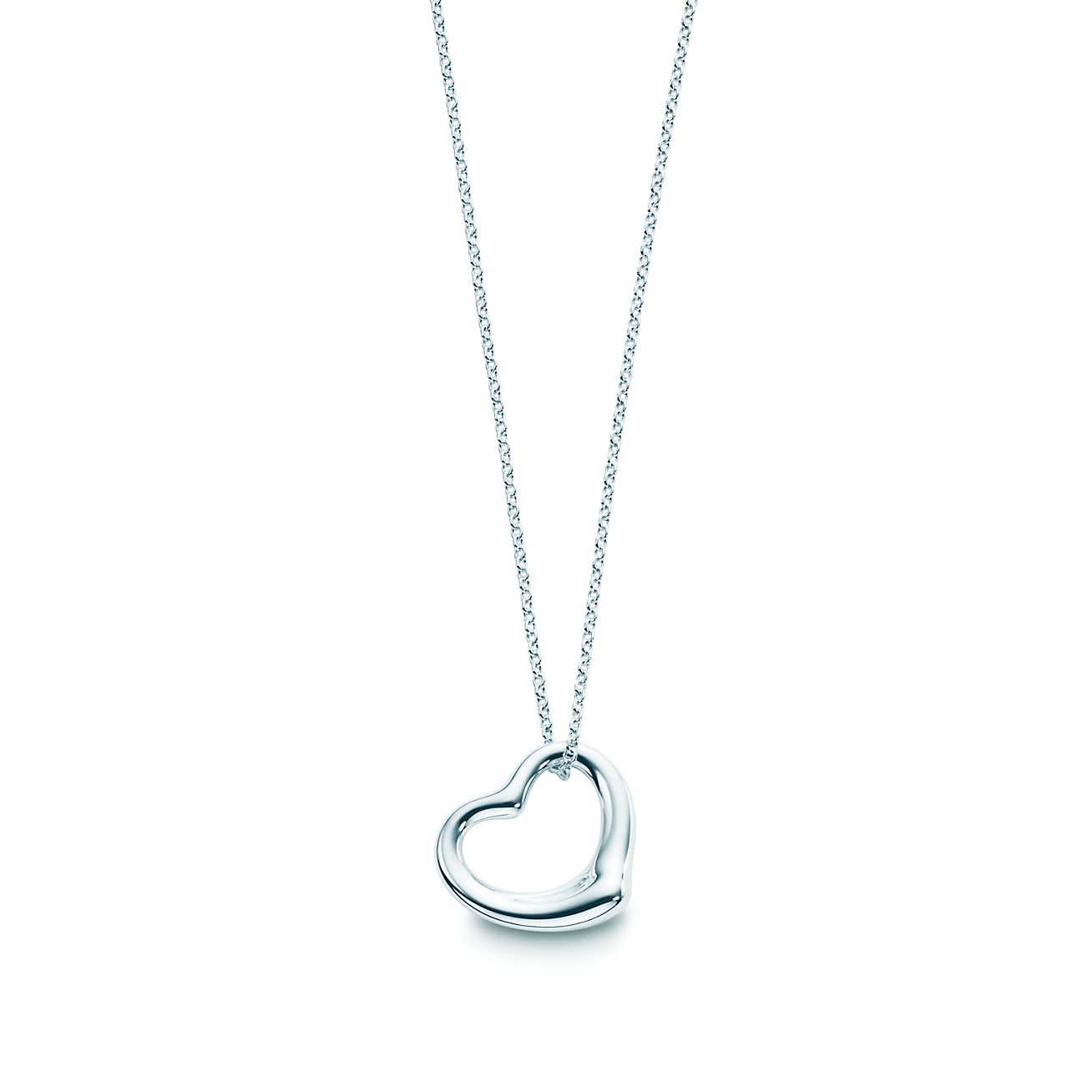 Elsa peretti sterling silver open heart pendant tiffany co elsa perettiopen heart pendant aloadofball Images