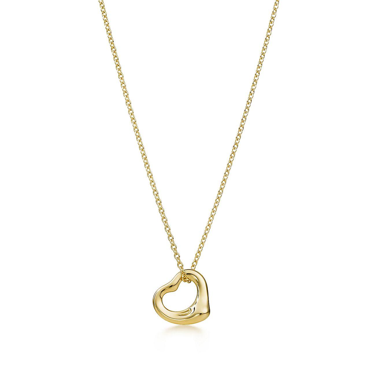 Elsa Peretti® Open Heart pendant in 18k gold.  85def6f00