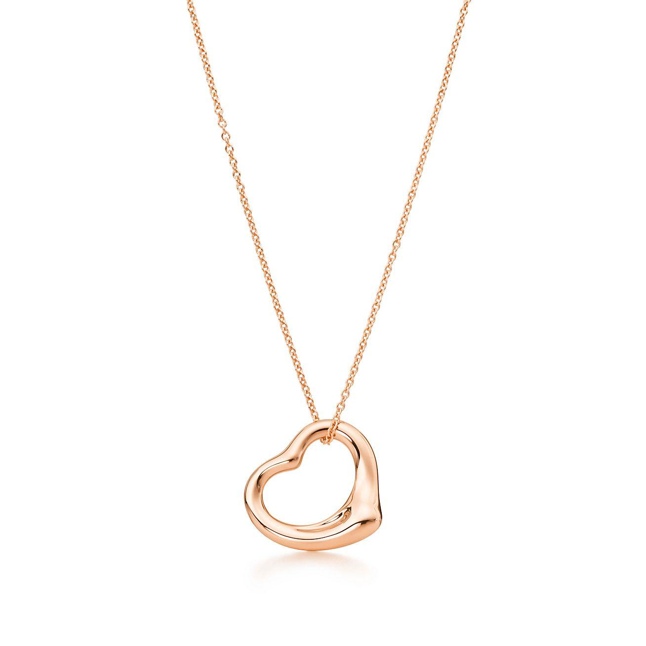 Elsa peretti open heart pendant in 18k rose gold tiffany co elsa perettiopen heart pendant aloadofball Images