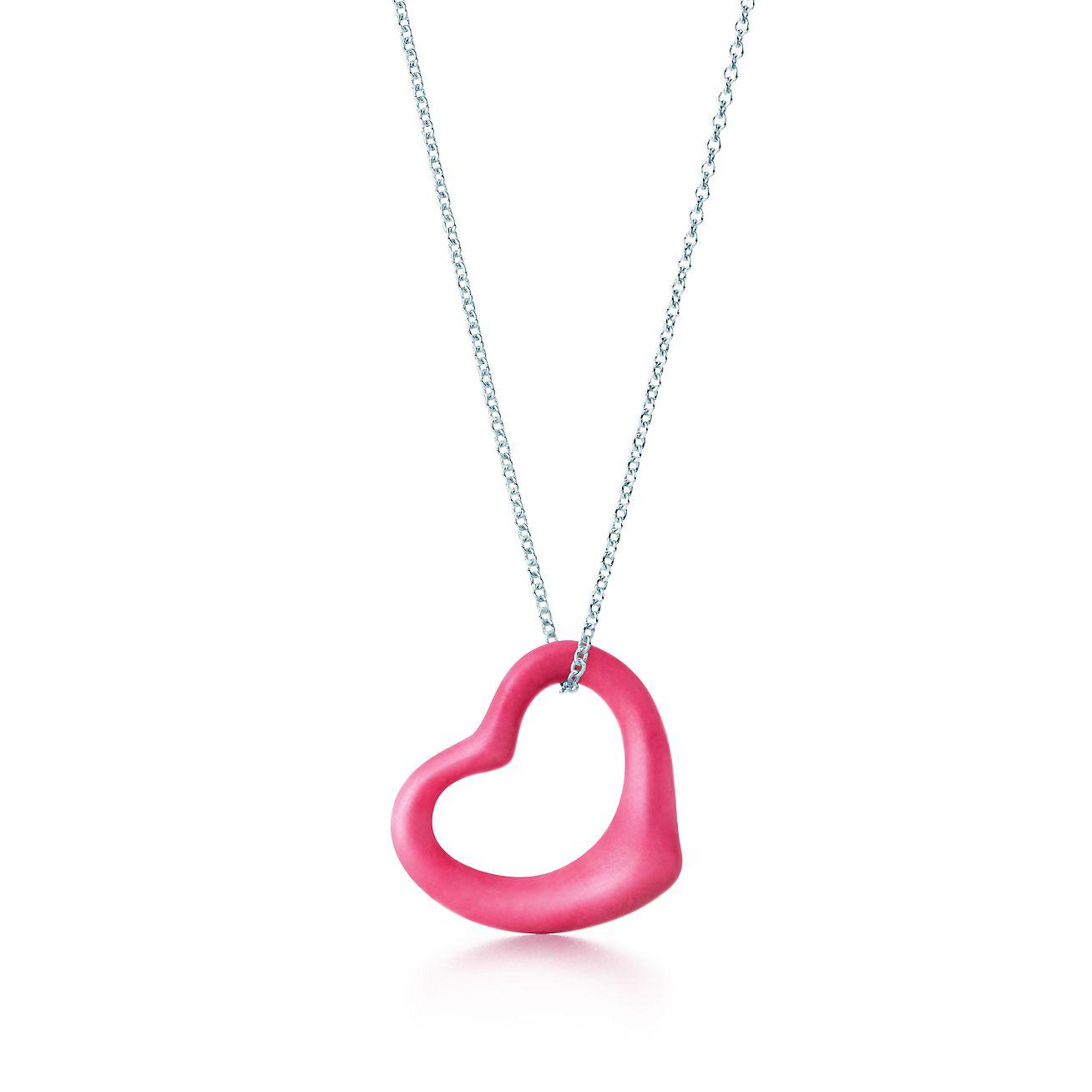 Elsa peretti open heart pendant of rhodonite and sterling silver elsa perettiopen heart pendant aloadofball Gallery