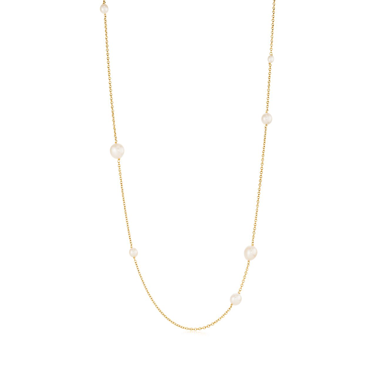 Elsa Peretti Pearls by the Yard necklace in 18k gold Tiffany & Co. BnNfz6H