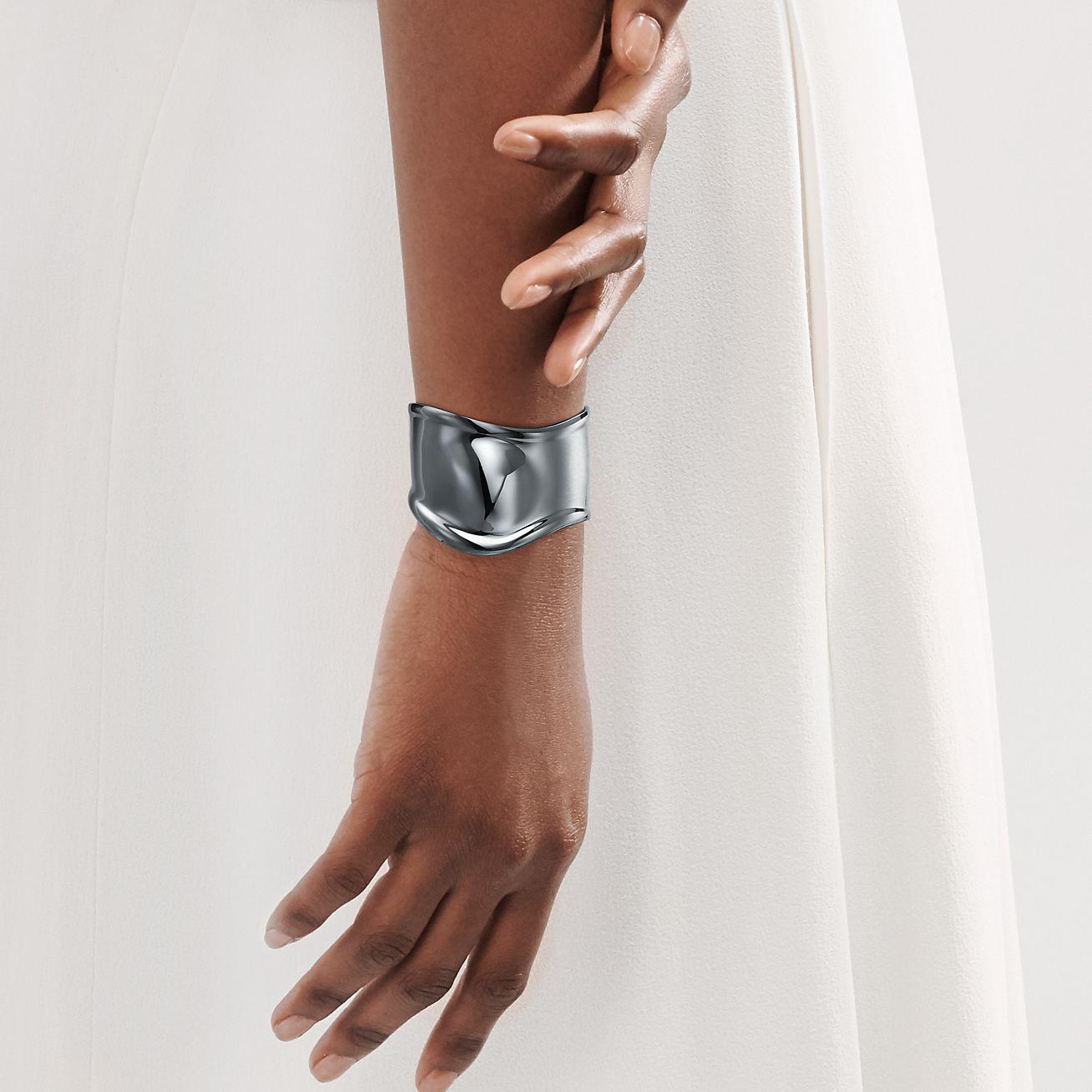 Elsa Peretti Small Bone Cuff With A Charcoal Color Finish 43 Mm Wide Tiffany Co