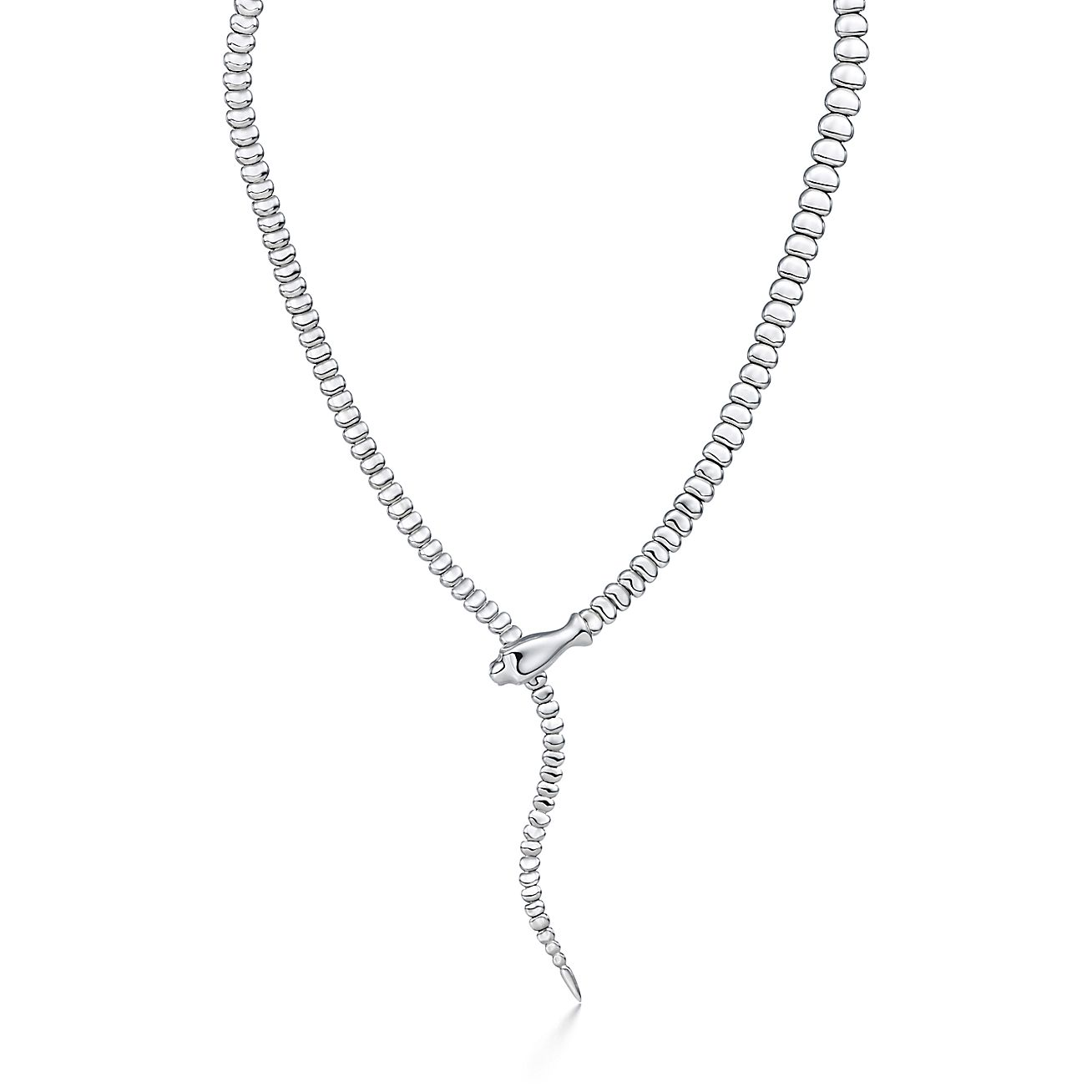 Elsa peretti snake necklace in sterling silver tiffany co aloadofball Image collections