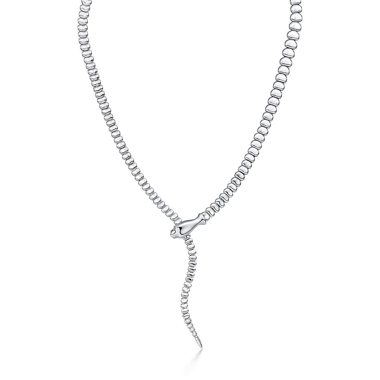 Elsa peretti snake necklace in sterling silver tiffany co aloadofball Gallery