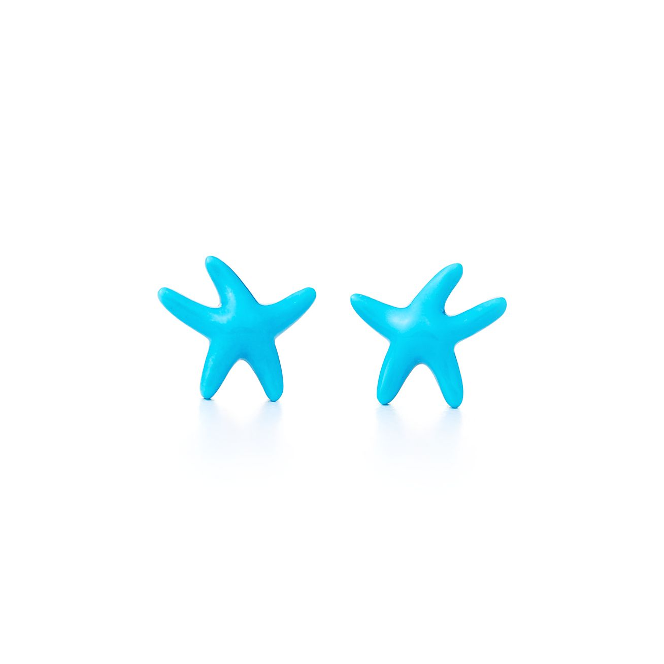 Charmed Earrings Delicate Starfish Earrings Turquoise /& .925 Silver Starfish Earrings Starfish Earrings