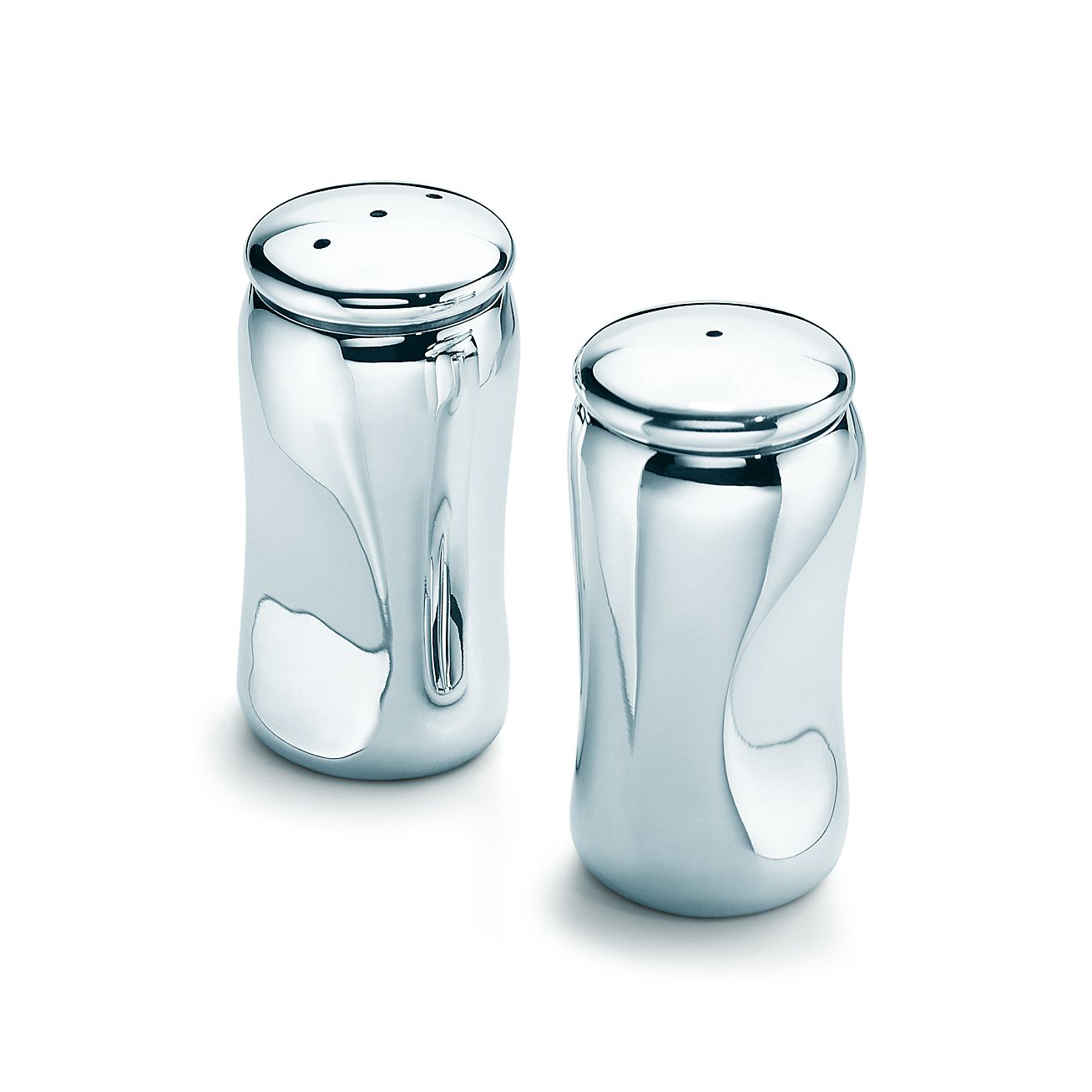 Elsa Peretti Thumbprint Salt And Pepper Shakers Silver Tiffany Co