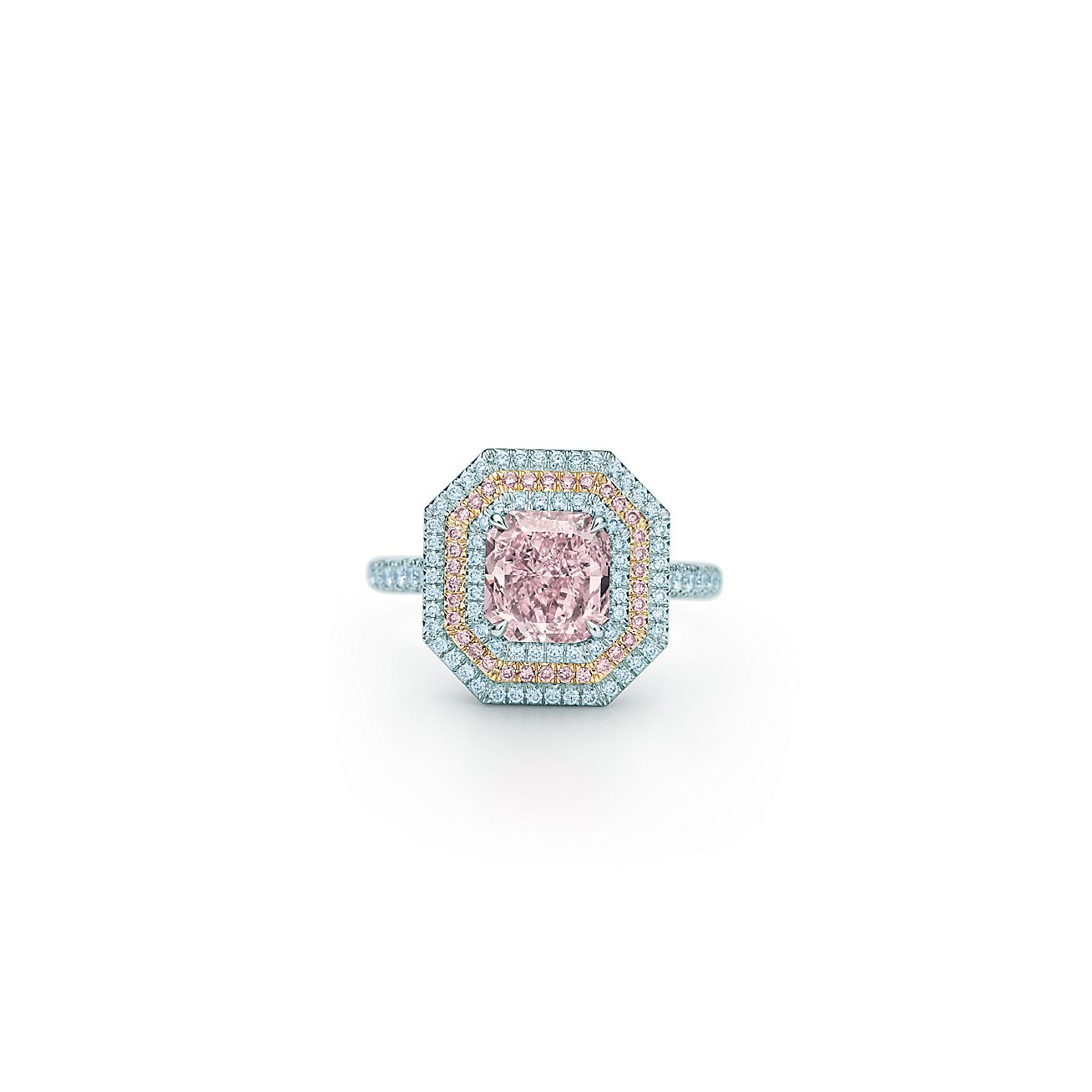 Pink Diamond Ring >> Fancy Intense Purple Pink Diamond Ring