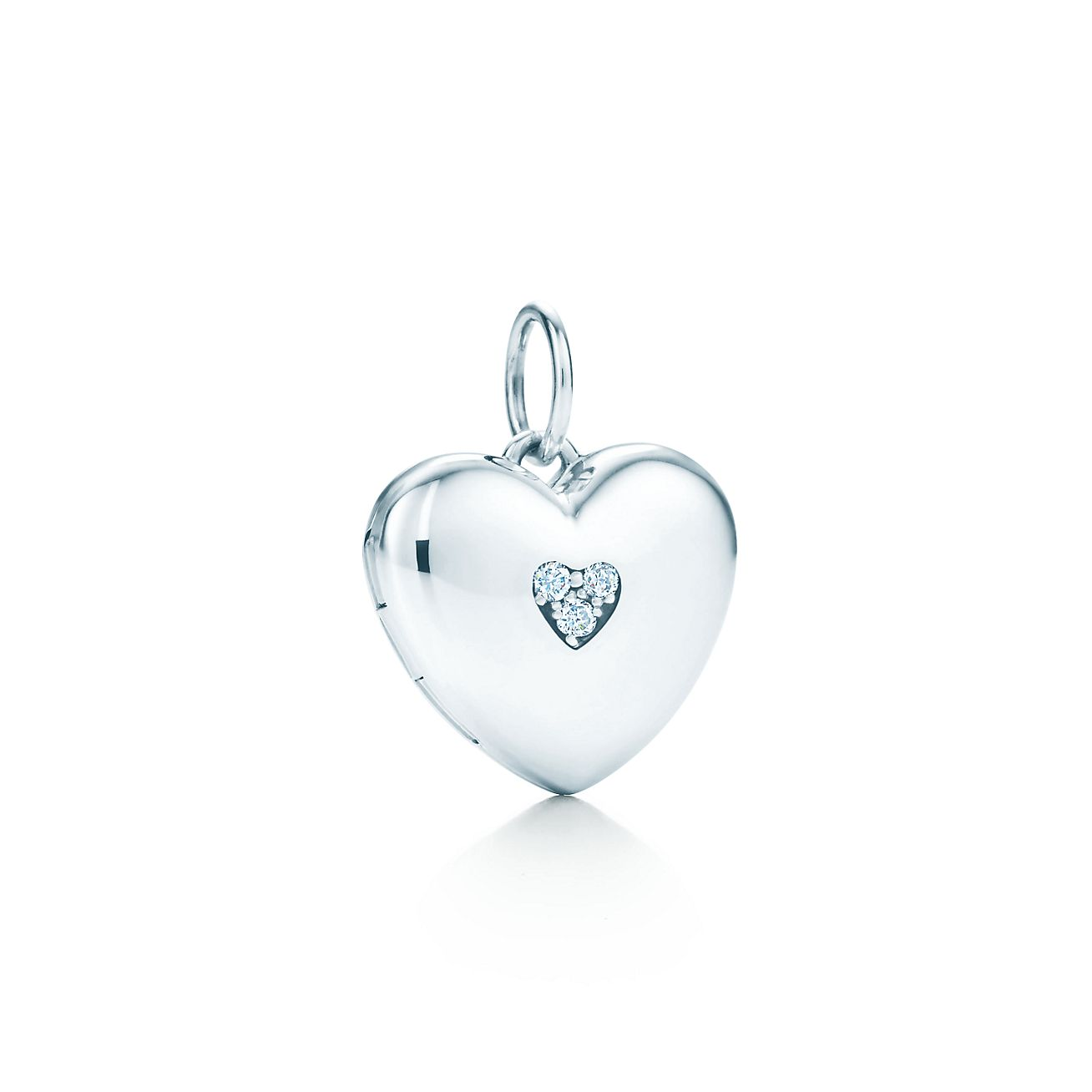 gift for her Real diamond heart locket necklace sterling silver jewelry lockets for women