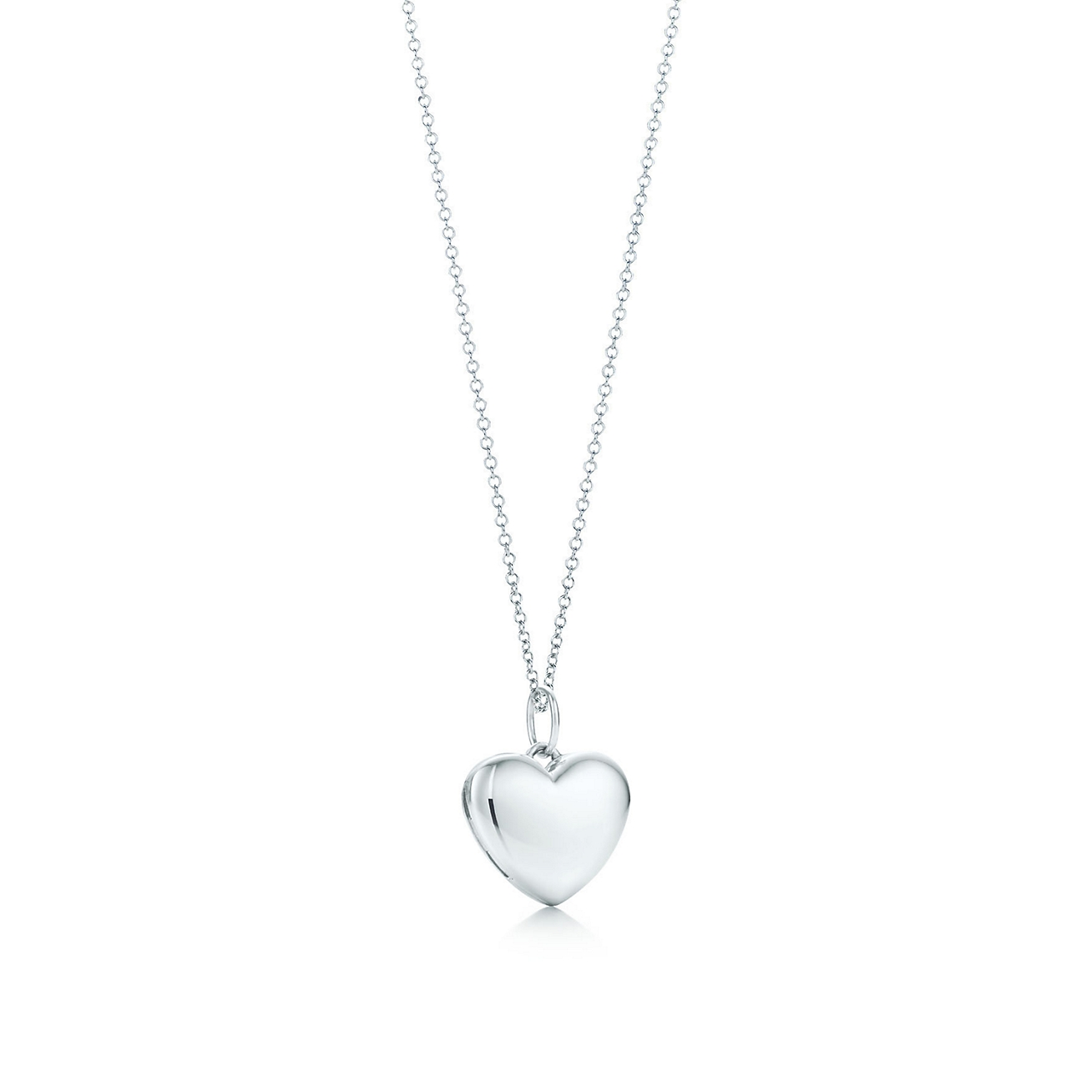 Heart locket in sterling silver on a chain tiffany co deletelarge heart locket pendant aloadofball Choice Image