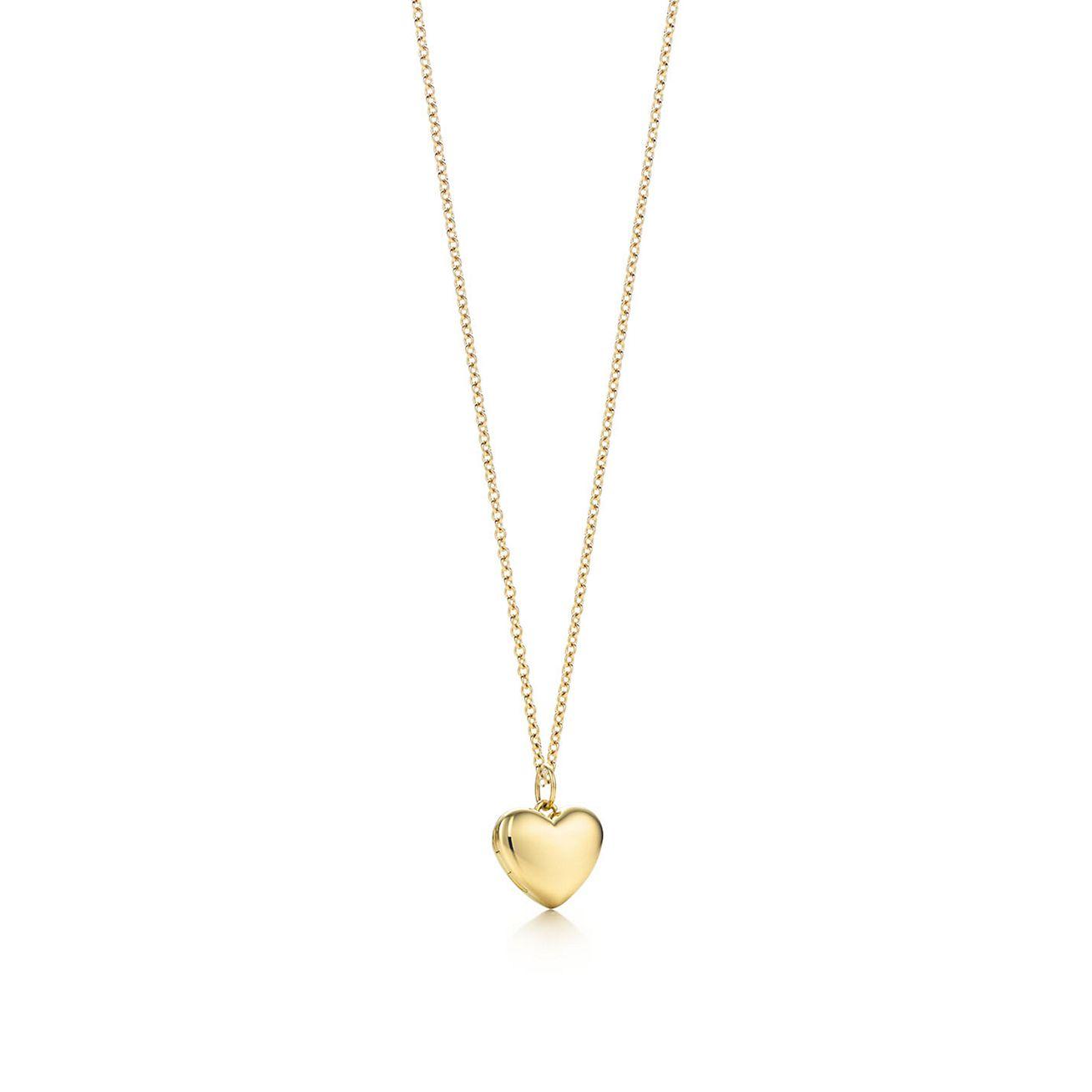 Heart Locket Pendant In 18k Gold Small Tiffany Co