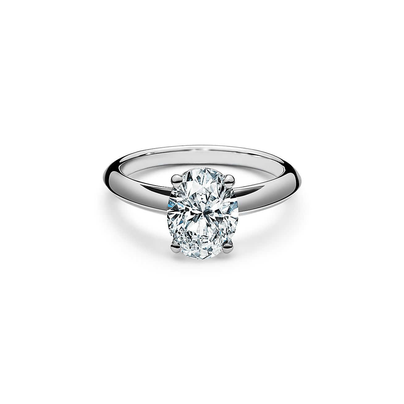 Oval Cut Diamond Engagement Ring In Platinum Tiffany Co