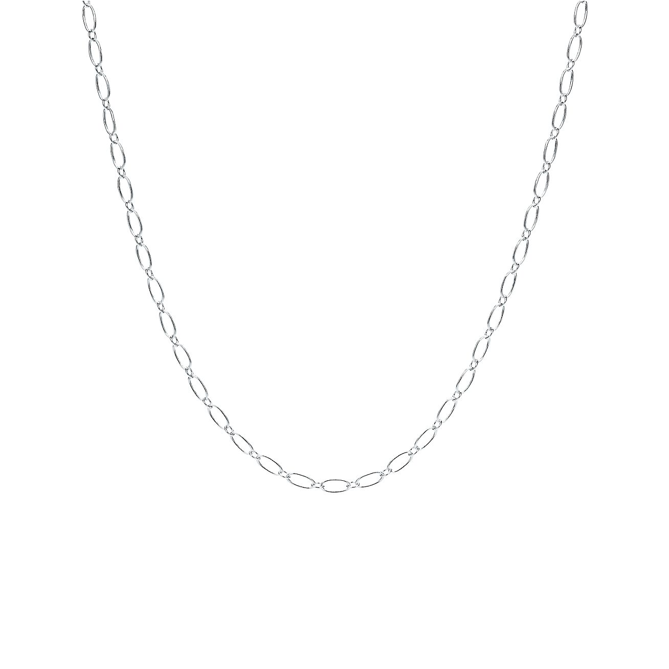 metallic chain oval in mija gold gallery lyst product link jewelry necklace