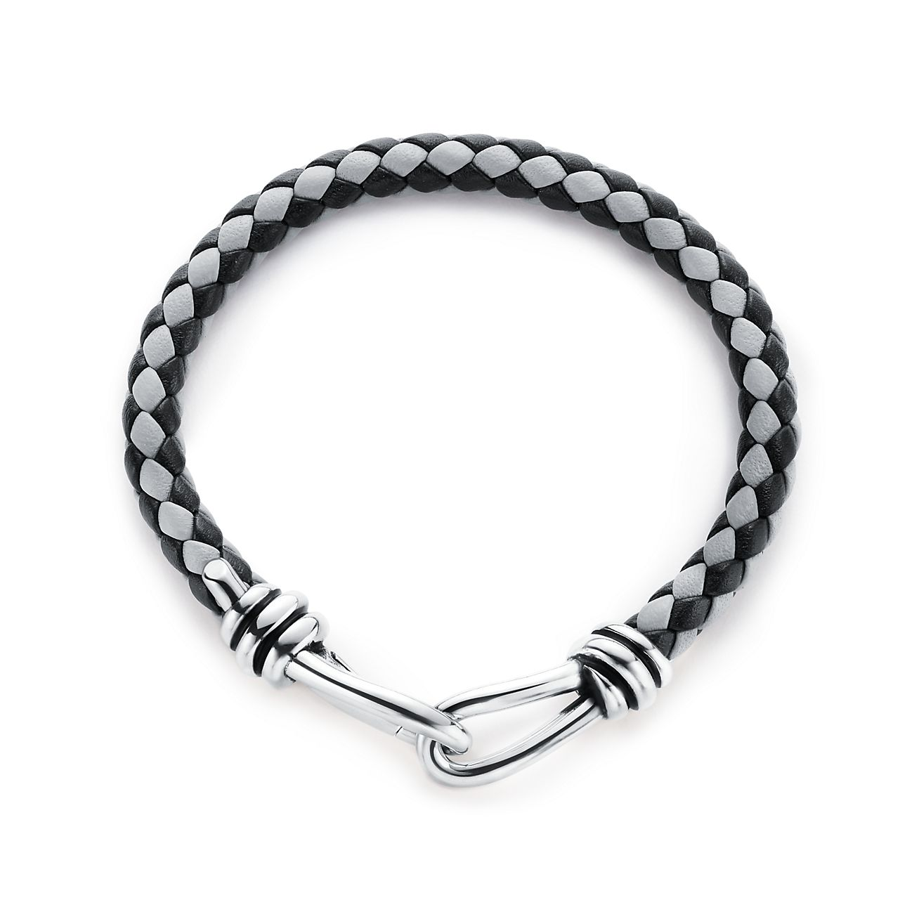 Paloma Picasso Knot single braid bracelet of leather and silver, extra large Tiffany & Co.