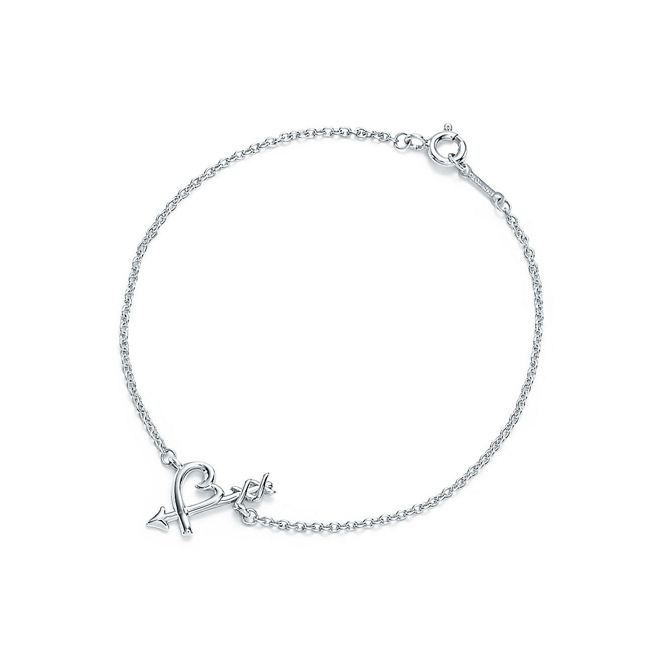 Paloma Pico Loving Heart Arrow Bracelet In Sterling Silver Medium Tiffany Co