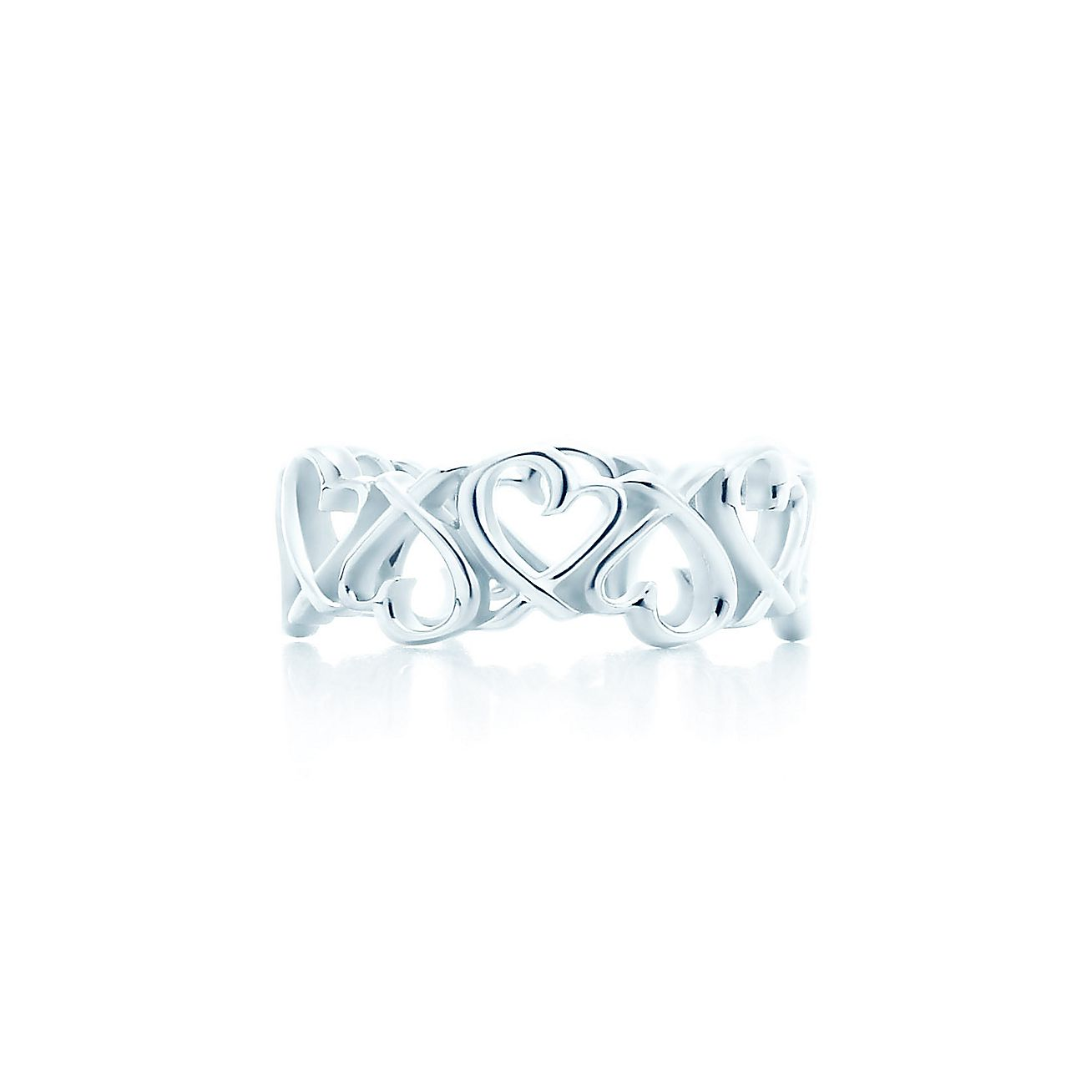 Paloma Picasso Loving Heart Band Ring In Sterling Silver Tiffany