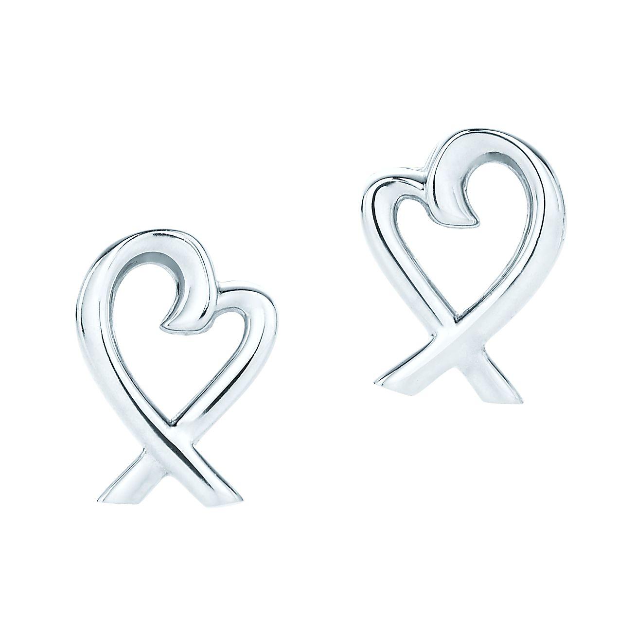Paloma Pico Loving Heart Earrings In Sterling Silver Tiffany Co