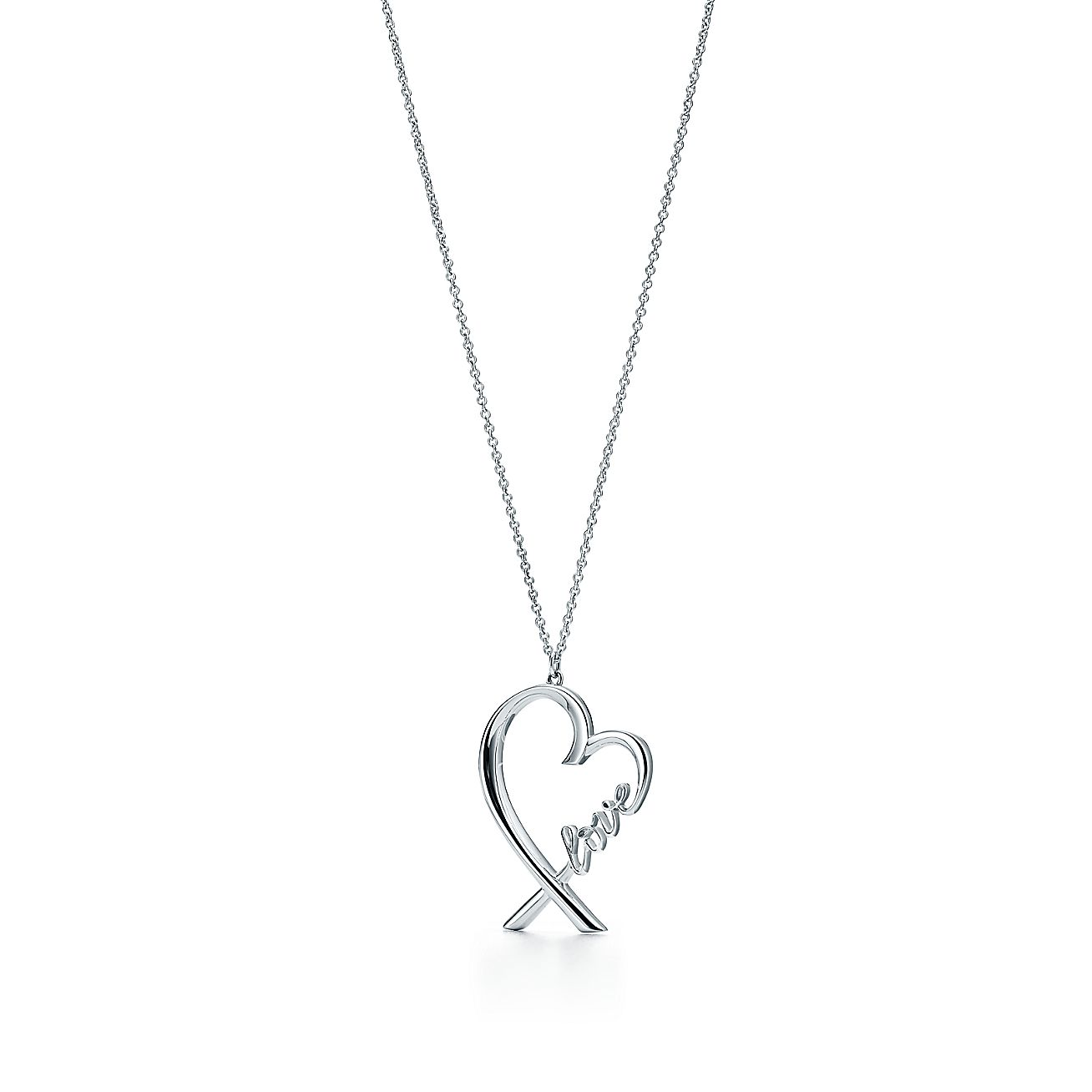 paloma picasso loving heart love pendant in sterling silver