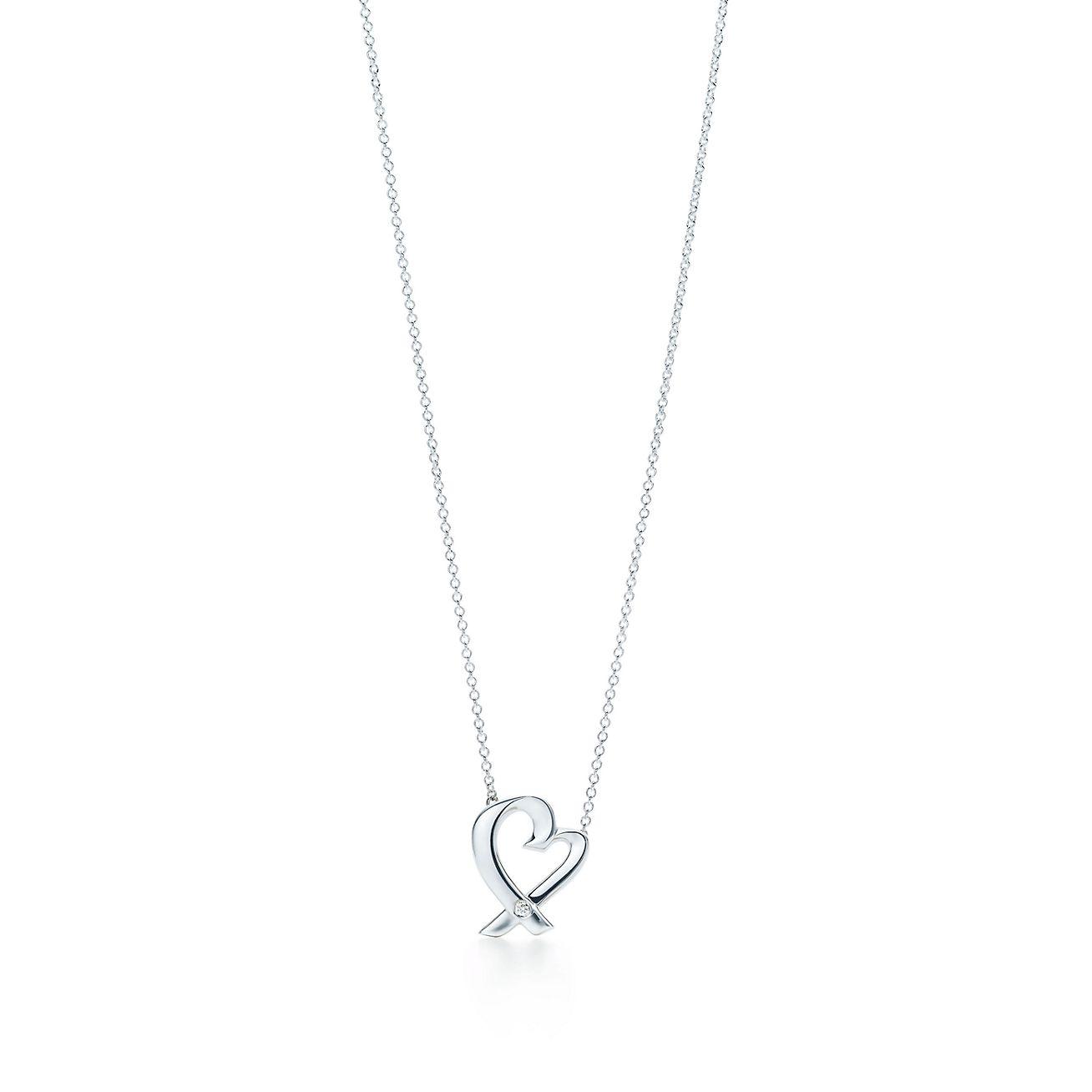 Paloma Picasso Loving Heart pendant in sterling silver, mini Tiffany & Co.