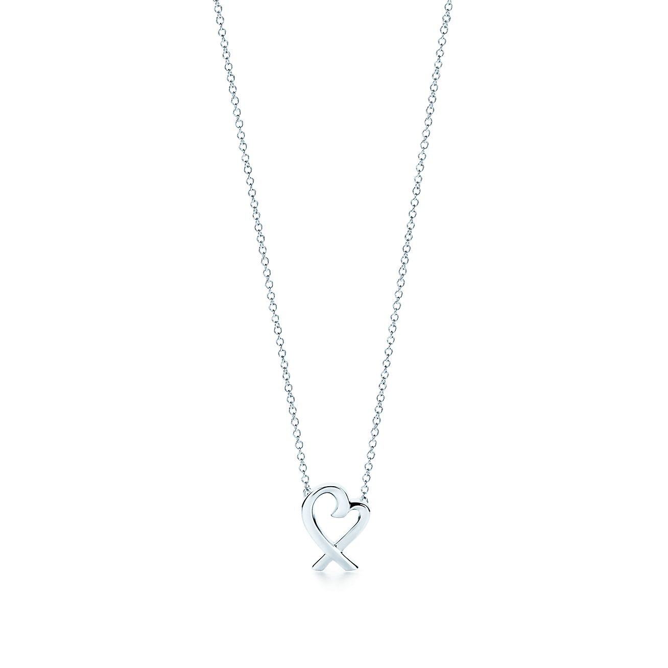 Paloma Picasso Loving Heart pendant in sterling silver Tiffany & Co. ZGr0F
