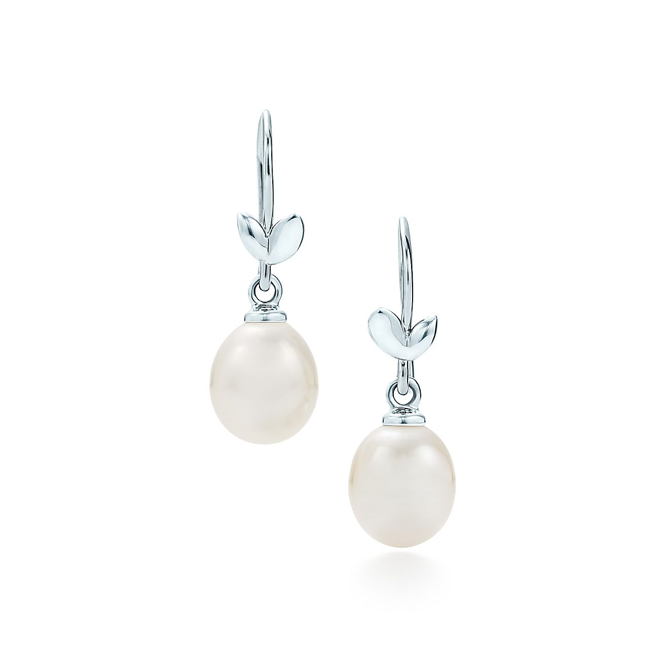 Paloma Pico Olive Leaf Drop Earrings In Sterling Silver With Pearls Tiffany Co