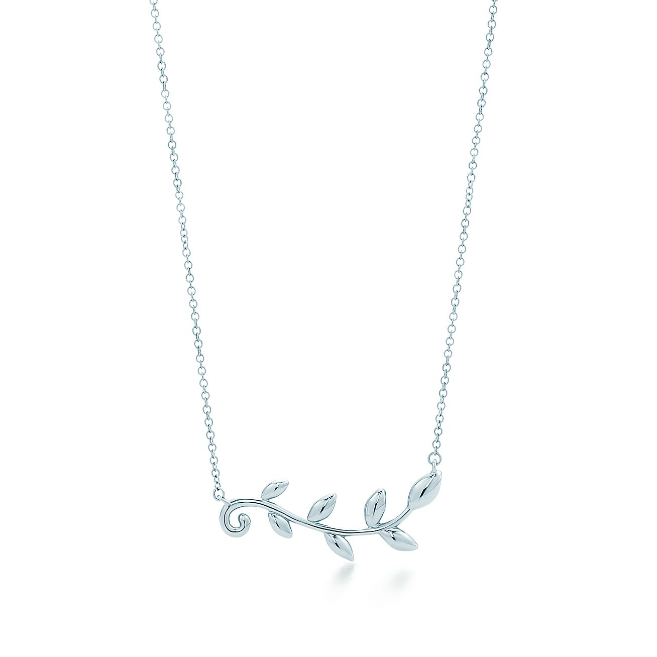 necklace olive products silver branch product image