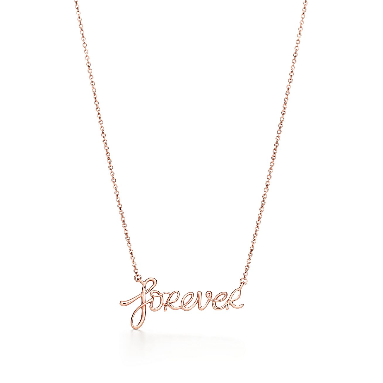 Paloma S Graffiti Forever Pendant In 18k Rose Gold Tiffany Co